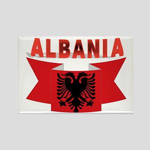 flag Albania Ribbon Rectangle Magnet