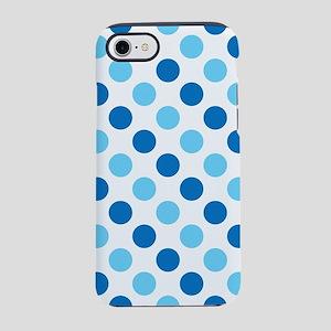 Blue polka dots pattern iPhone 7 Tough Case
