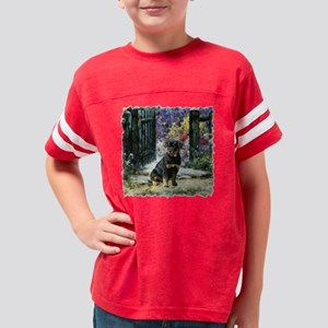 garden gate rottie edged Youth Football Shirt