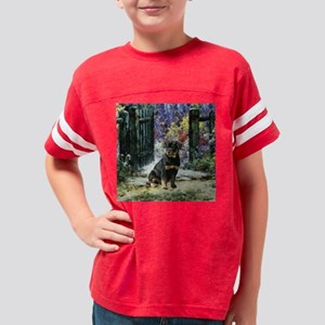 garden gate rottie square Youth Football Shirt