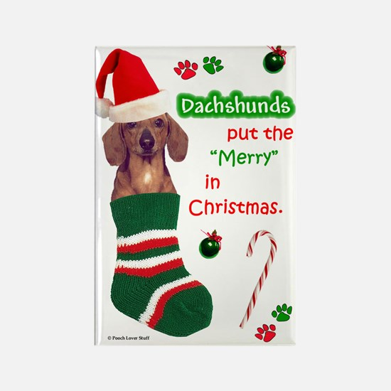 Dachshund (Red) Rectangle Magnet