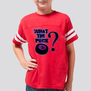 what_the_puck_purple Youth Football Shirt