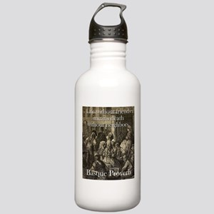 Life Without Friends - Basque Proverb Water Bottle