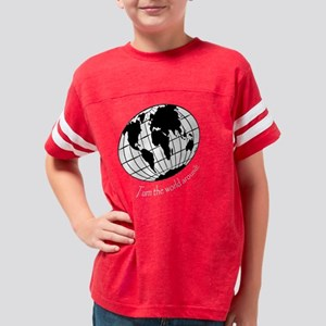 turn the world on white Youth Football Shirt