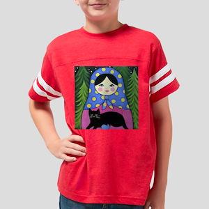 Matryoshka Black Cat Painting Youth Football Shirt