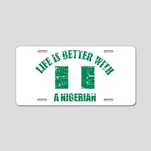 Life is better with Nigerian Aluminum License Plat