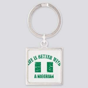 Life is better with Nigerian Square Keychain
