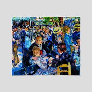 Renoir: Dance at Le Moulin de la Gal Throw Blanket