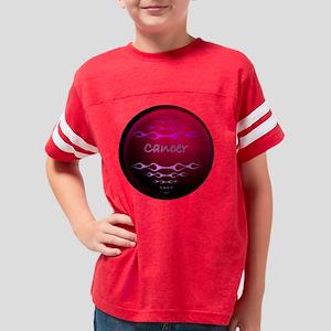 cancer red circular Youth Football Shirt