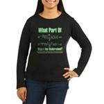 What part of Riemann's? Women's Long Sleeve Dark T