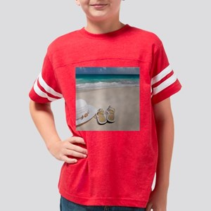 Relaxing Beach Youth Football Shirt