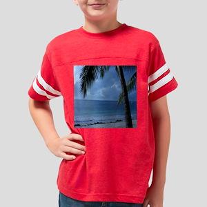 Palm Tree Beach Youth Football Shirt