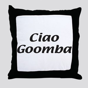 Italian Ciao Goomba Throw Pillow
