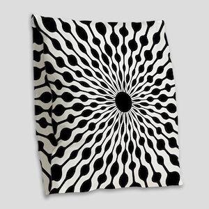 Retro Droplet Pattern Burlap Throw Pillow
