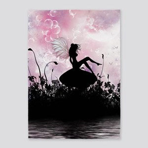 Fairy Silhouette 5'x7'Area Rug