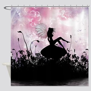 Fairy Silhouette Shower Curtain