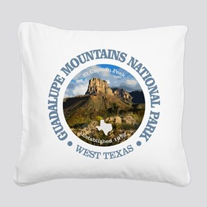 Guadalupe Mountains NP Square Canvas Pillow