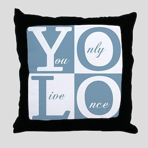 YOLO Square Throw Pillow