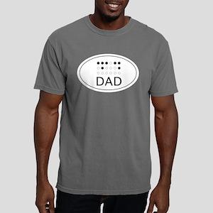 Braille Sticker DAD Mens Comfort Colors Shirt