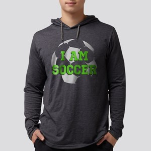 I Am Soccer Mens Hooded Shirt