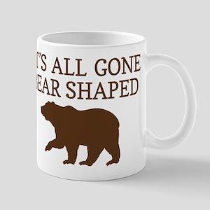 Its All Gone Bear Shaped Mugs
