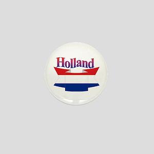 Holland flag ribbon Mini Button