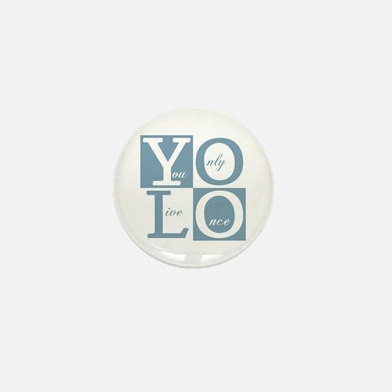 YOLO Square Mini Button