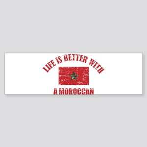 Life is better with a Moroccan Sticker (Bumper)