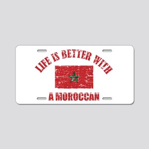 Life is better with a Moroccan Aluminum License Pl