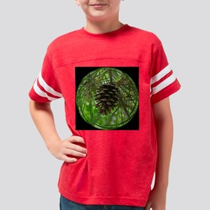 Pine Cone bl tile Youth Football Shirt