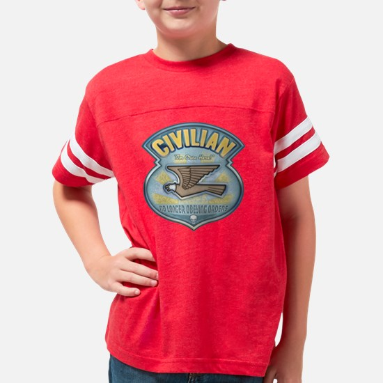 2-civilian1-T Youth Football Shirt