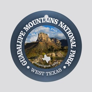 Guadalupe Mountains NP Round Ornament