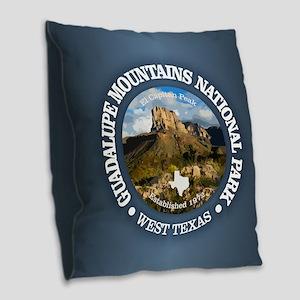 Guadalupe Mountains NP Burlap Throw Pillow