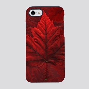 Red Maple Leaf Canada Souvenir iPhone 7 Tough Case