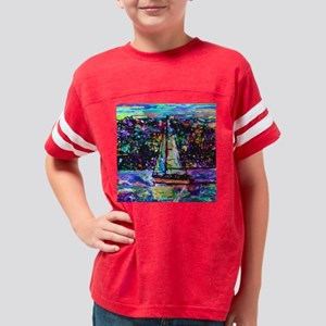 SAILBOAT COLORFUL Youth Football Shirt