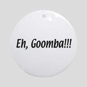 Italian Eh, Goomba Ornament (Round)