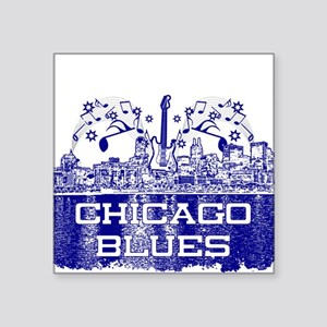 Chicago BLUES-4 Sticker
