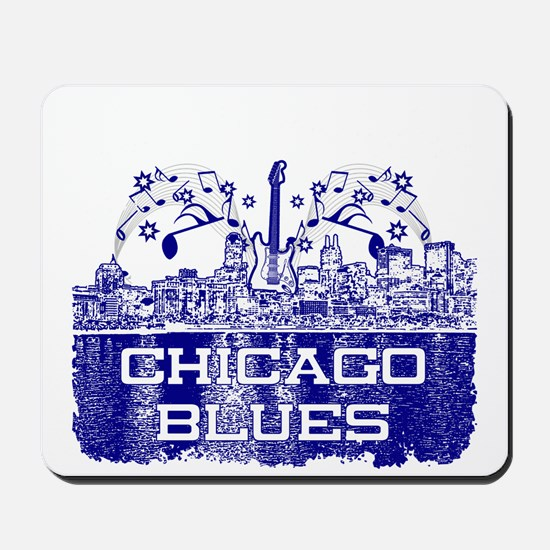 Chicago BLUES-4 Mousepad