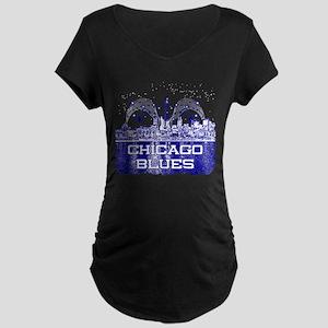 Chicago BLUES-4 Maternity T-Shirt