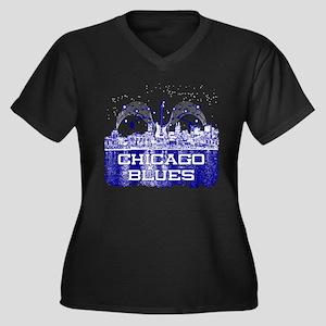 Chicago BLUES-4 Plus Size T-Shirt