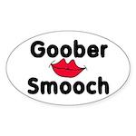 Goober Smooch Oval Sticker