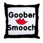Goober Smooch  Throw Pillow