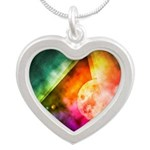 Abstract Full Moon Spectrum Necklaces