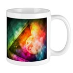 Abstract Full Moon Spectrum Mugs