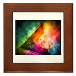 Abstract Full Moon Spectrum Framed Tile