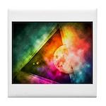 Abstract Full Moon Spectrum Tile Coaster