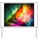 Abstract Full Moon Spectrum Yard Sign