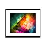 Abstract Full Moon Spectrum Framed Panel Print