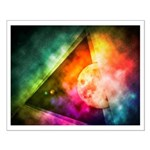 Abstract Full Moon Spectrum Posters