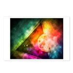 Abstract Full Moon Spectrum Postcards (Package of
